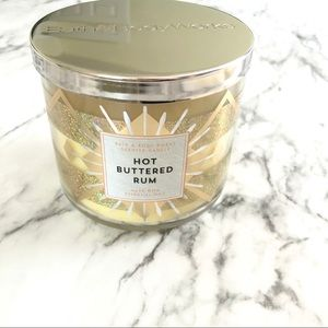 Bath & Body Works Hot Buttered Rum 3-Wick Candle
